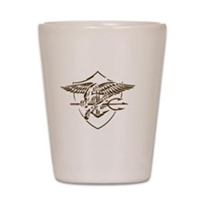 Navy SEAL Insignia Artistic Version Shot Glass