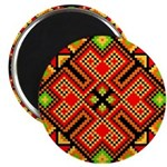 "Folk Design 4 2.25"" Magnet (10 pack)"