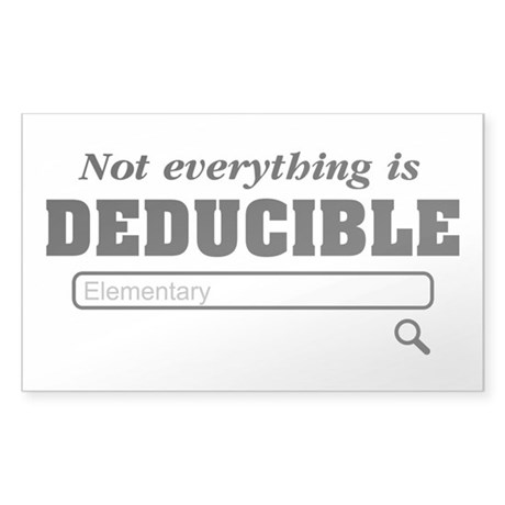 Not Everything Is Deducible Elementary Sticker