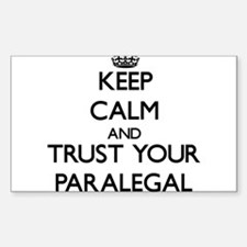 Keep Calm and Trust Your Paralegal Decal