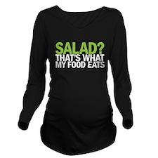 Salad Long Sleeve Maternity T-Shirt