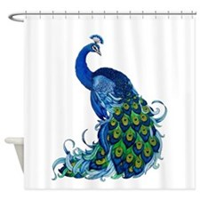 Beautiful Blue Peacock Shower Curtain