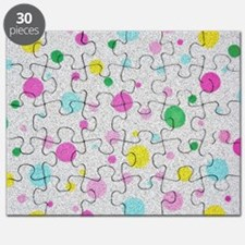 Polka Dots and Bubbles with fur design Puzzle