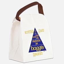 Scottish Food Pyramid Canvas Lunch Bag