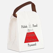 Polish Food Pyramid Canvas Lunch Bag