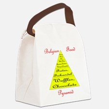 Belgian Food Pyramid Canvas Lunch Bag