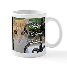Belated Birthday Cat Mugs