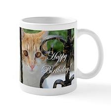 Happy Birthday Cat Mugs