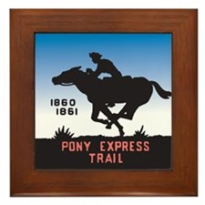 The Pony Express Framed Tile