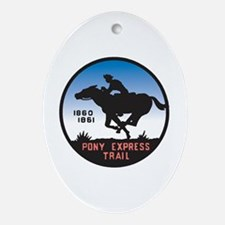 The Pony Express Oval Ornament