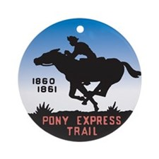 The Pony Express Ornament (Round)
