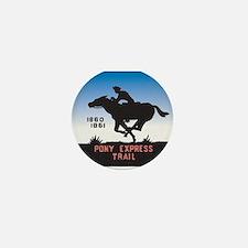 The Pony Express Mini Button
