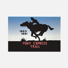 The Pony Express Rectangle Magnet