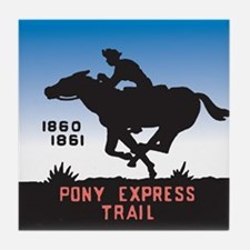 The Pony Express Tile Coaster