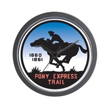 The Pony Express Wall Clock