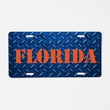 Florida Diamond Plate Aluminum License Plate