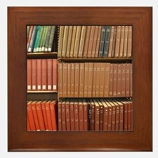 Bookshelves Framed Tile