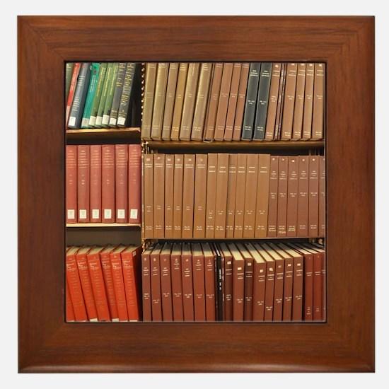 Bookshelves Framed Tile