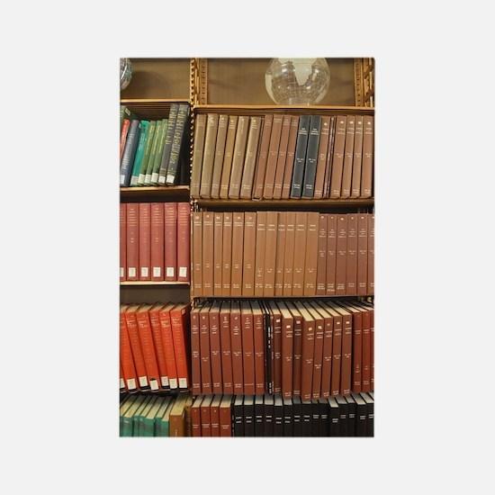 Bookshelves Rectangle Magnet