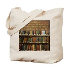 Bookshelves and Quotation Tote Bag