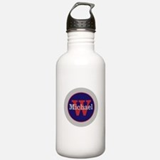 Blue Red Name and Init Water Bottle