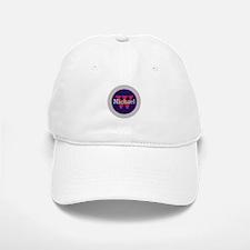 Blue Red Name and Initial Monogram Baseball Baseball Cap
