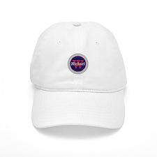Blue Red Name and Initial Monogram Baseball Cap