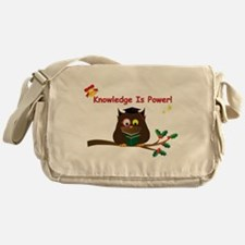Wise Owl For Christmas Messenger Bag