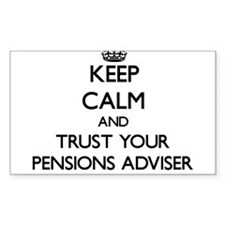 Keep Calm and Trust Your Pensions Adviser Decal