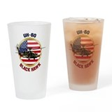 Army helicopter Pint Glasses