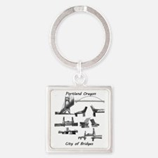 Bridge City Square Keychain