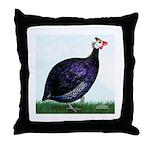 Royal Purple Guineafowl Throw Pillow