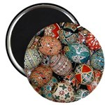 "Pysanky Group 1 2.25"" Magnet Round (10 Magnet"