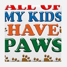 KidsHavePaws copy Tile Coaster