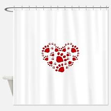 DogHeart copy Shower Curtain