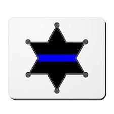 Blue Line Badge 2 Mousepad