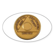 Alcoholics Anonymous Anniversary Chip Bumper Stickers