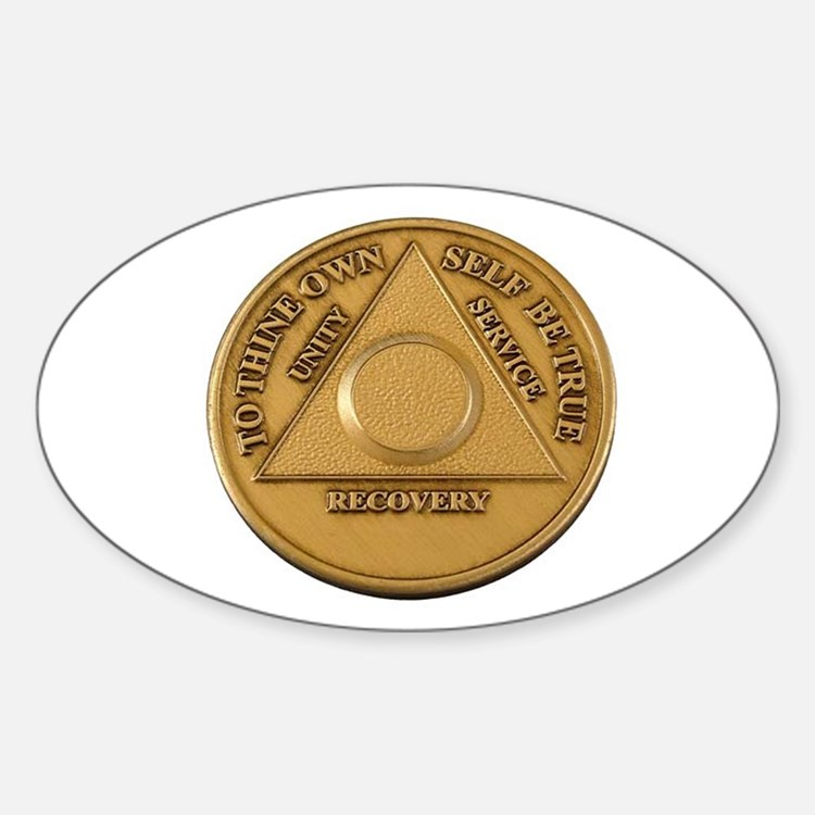 Alcoholics Anonymous Anniversary Chip Decal