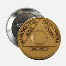 "Alcoholics Anonymous Anniversary Chip 2.25"" Button"