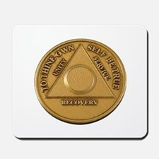 Alcoholics Anonymous Anniversary Chip Mousepad