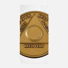 Alcoholics Anonymous Anniversary Chip Beach Towel