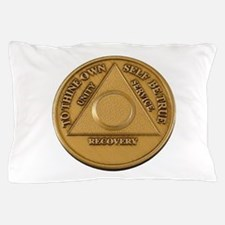 Alcoholics Anonymous Anniversary Chip Pillow Case