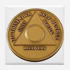 Alcoholics Anonymous Anniversary Chip Tile Coaster