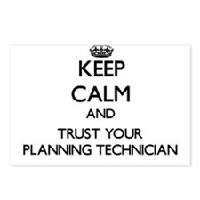 Keep Calm and Trust Your Planning Technician Postc