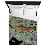 Gone fishing Luxe Full/Queen Duvet Cover