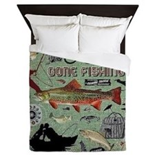 Gone Fishing Queen Duvet