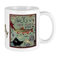 Gone Fishing Mug Mugs