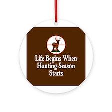 Hunting Season Ornament (Round)