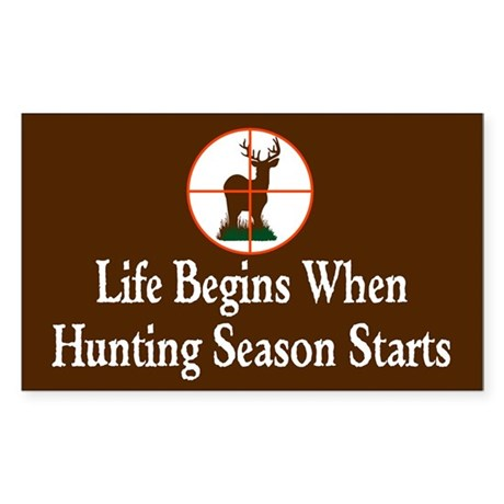 Hunting Season Rectangle Sticker