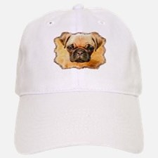 Brown Pug Puppy Baseball Baseball Cap